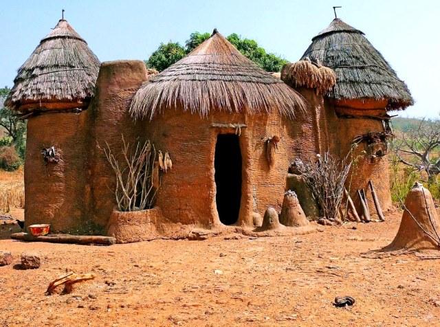 Village house in Benin, Africa
